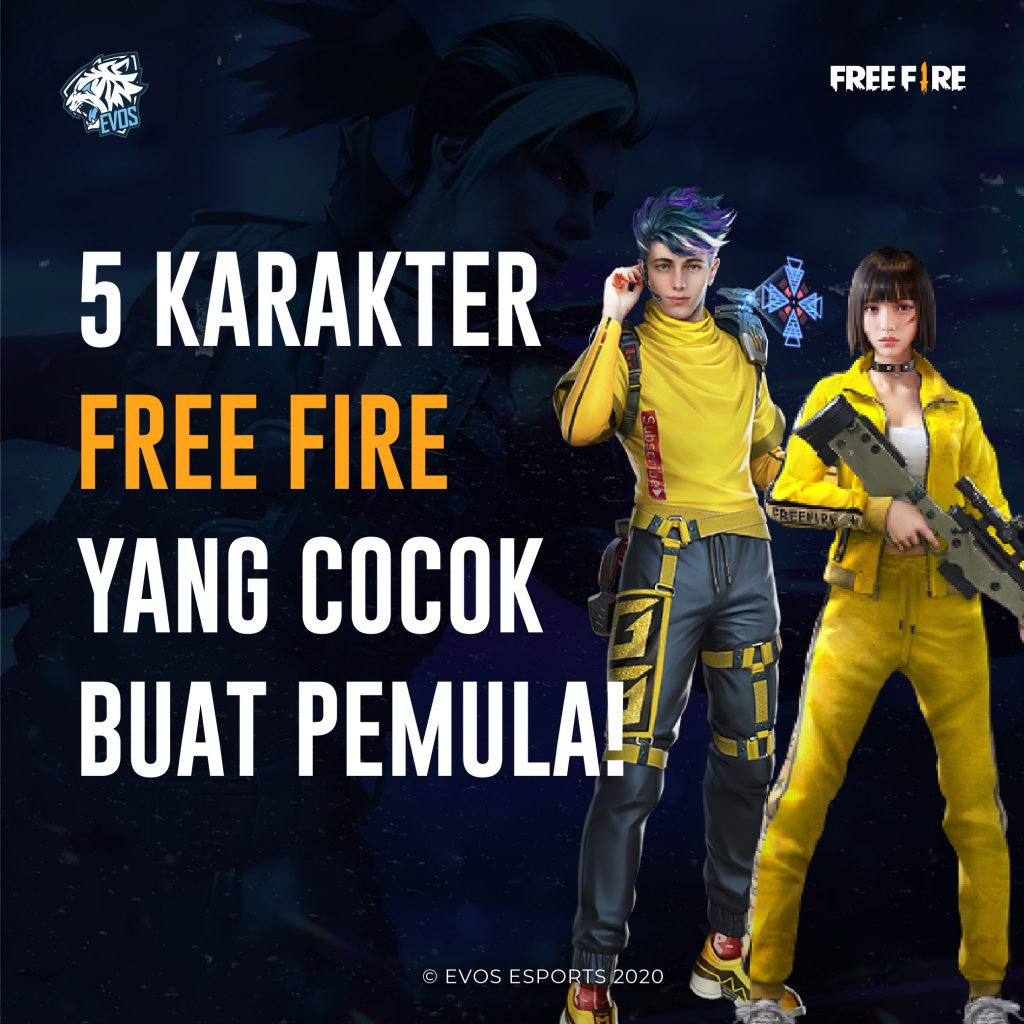 5 FREE FIRE CHARACTERS SUITABLE FOR BEGINNERS AND EASY TO PLAY!