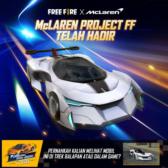 Garena Free McLaren Project FF Car in Free Fire Game