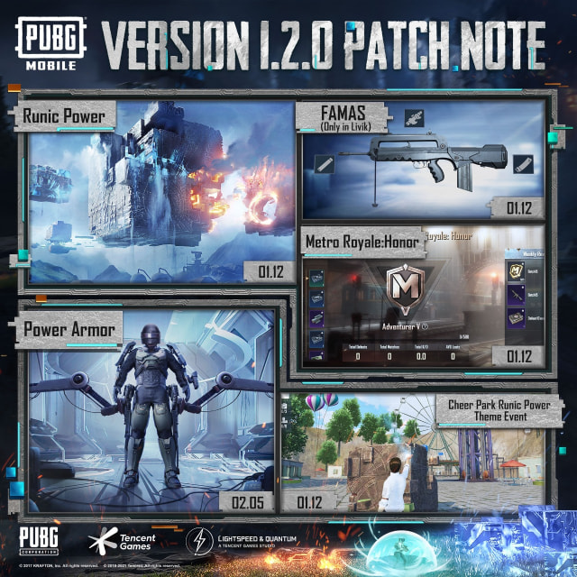 PUBGM RELEASES PATCH NOTE 1.2. WHAT'S NEW?